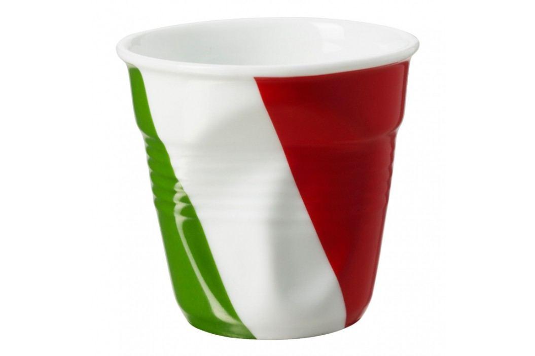 REVOL Téglik na espresso 8 cl s talianskou vlajkou Froissés
