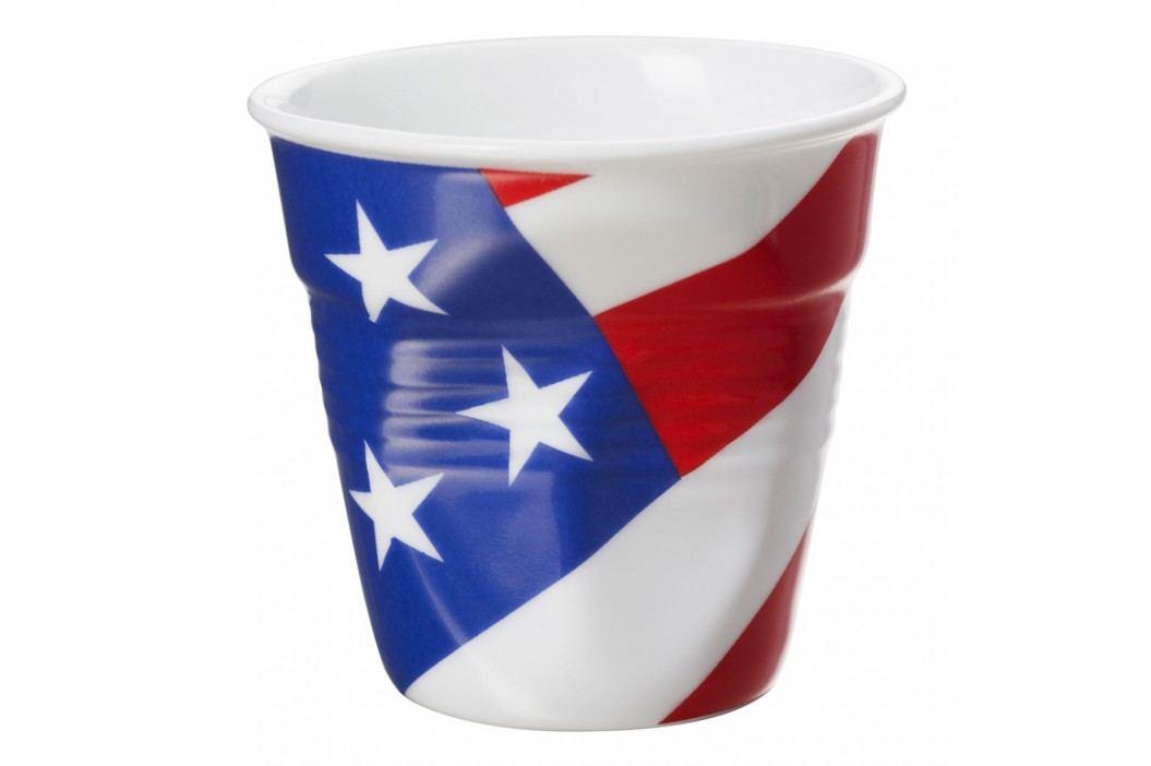 REVOL Téglik na espresso 8 cl s vlajkou USA Froissés