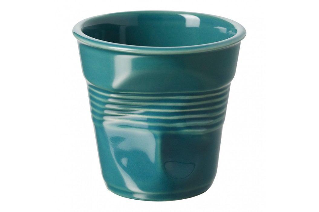 REVOL Téglik na cappuccino 18 cl modrozelený Froissés