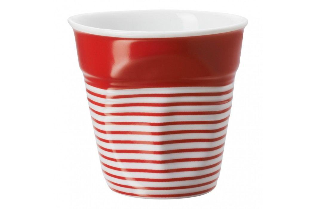 REVOL Téglik na espresso 8 cl červeno-biela s pruhmi Froissés