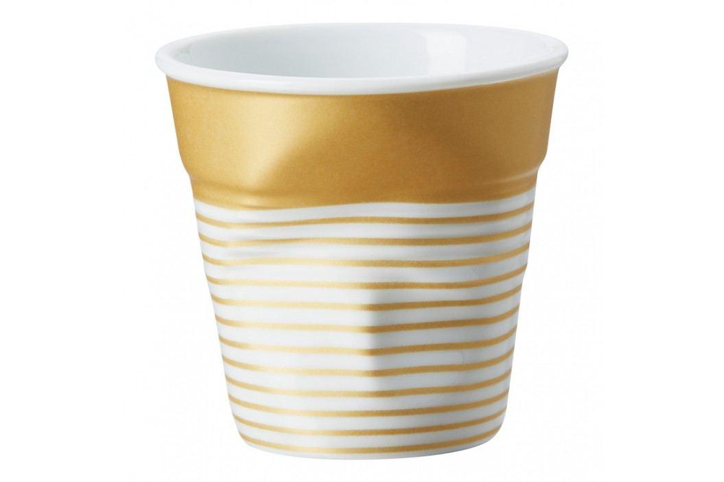 REVOL Téglik na espresso 8 cl zlato-biela s pruhmi Froissés