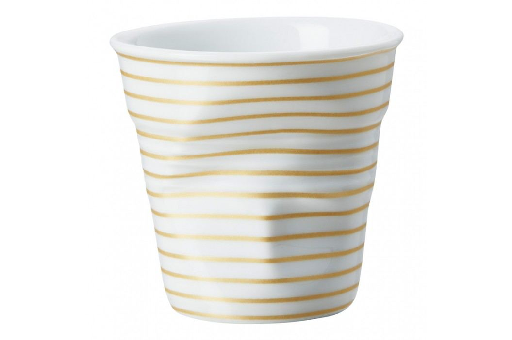 REVOL Téglik na espresso 8 cl biela so zlatými pruhmi Froissés
