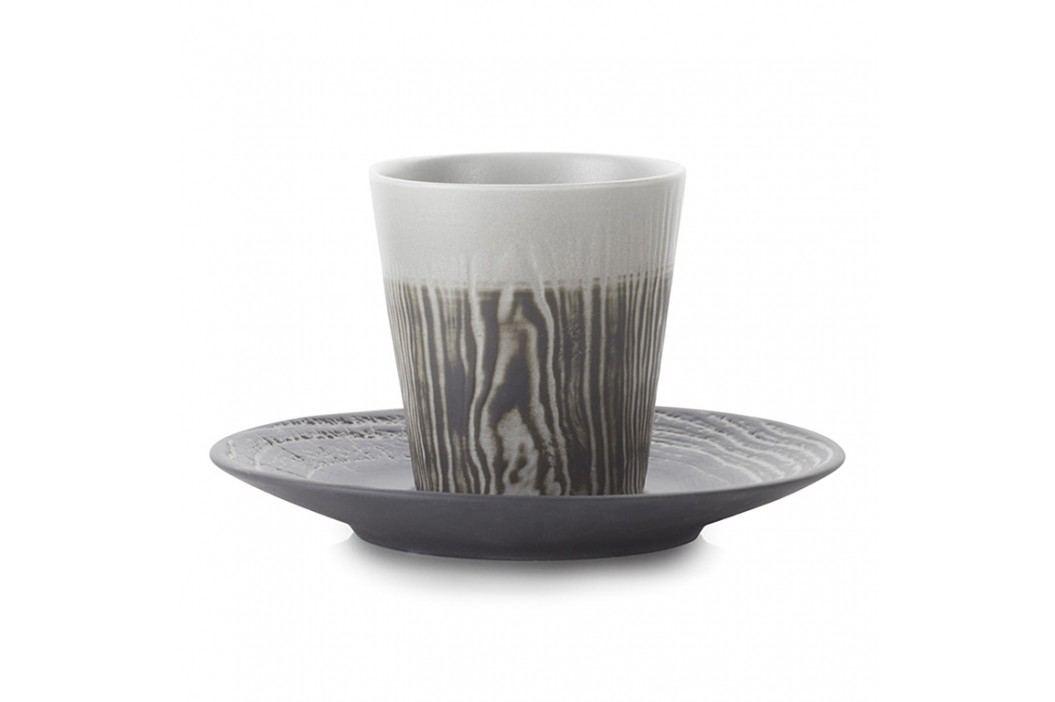 REVOL Hrnček na espresso 8 cl s podšálkou farba korenia Arborescence