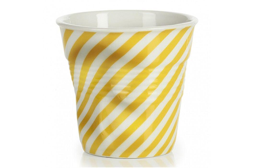 REVOL Téglik na espresso 8 cl žltá Berlingot Froissés
