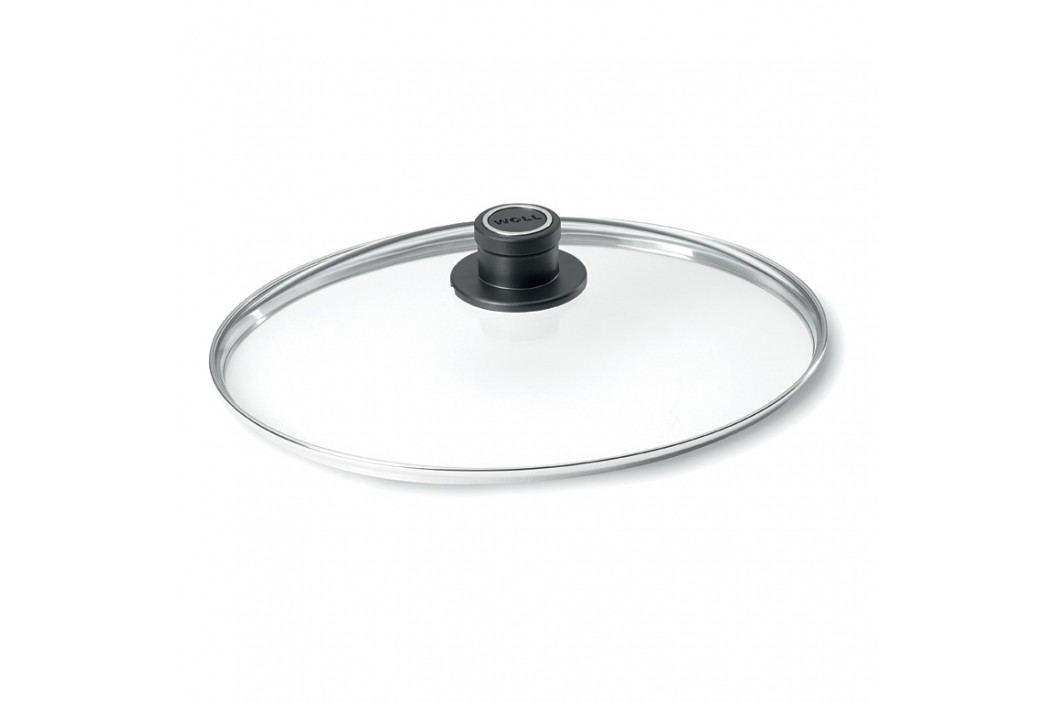 WOLL Oválna sklenená pokrievka s plastovým držadlom 38 × 28,4 cm