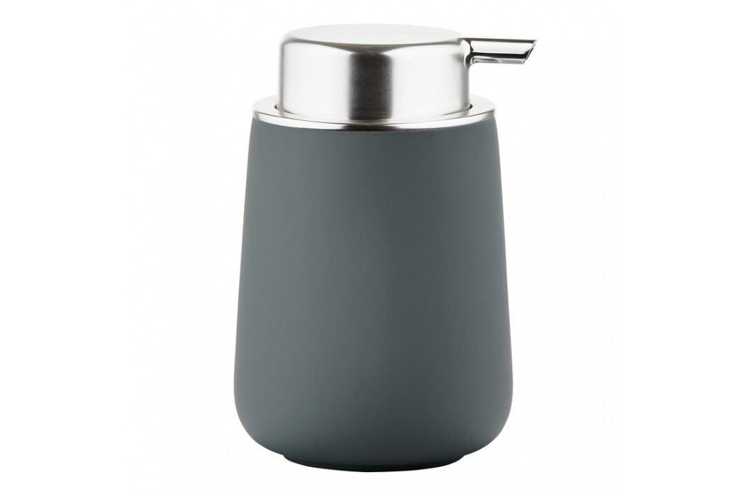 ZONE Dávkovač mydla porcelánový 11,5 cm grey NOVA ONE