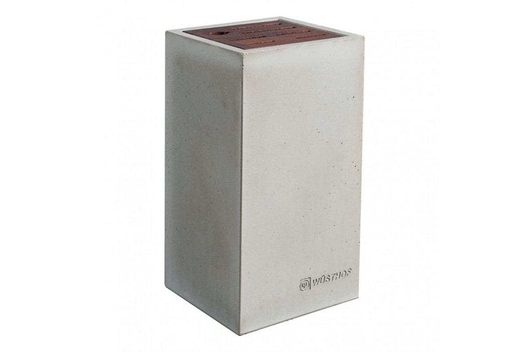WÜSTHOF Dizajnový blok na nože beton/buk na 7 kusov