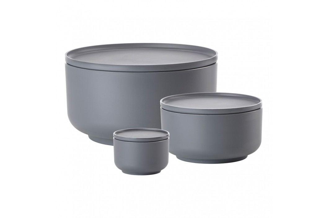 ZONE Súprava servírovacích dóz 0,25 l, 1 l a 4,5 l cool grey PEILI