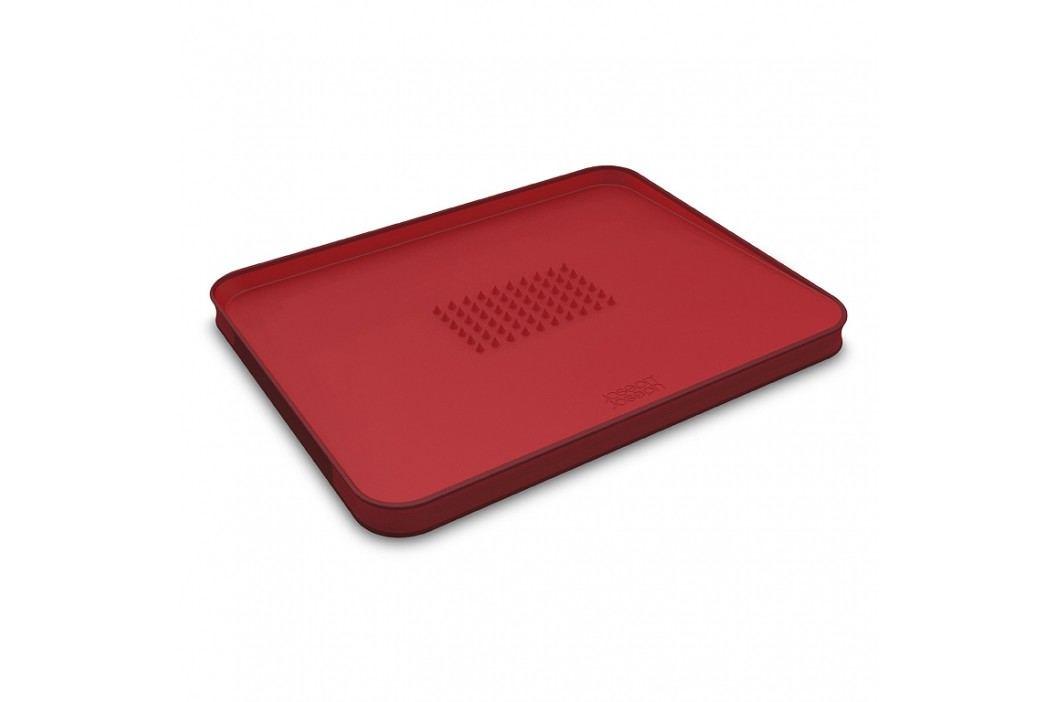Joseph Joseph Multifunkčná doska na krájanie s výstupkami veľká červená Cut&Carve™ Plus