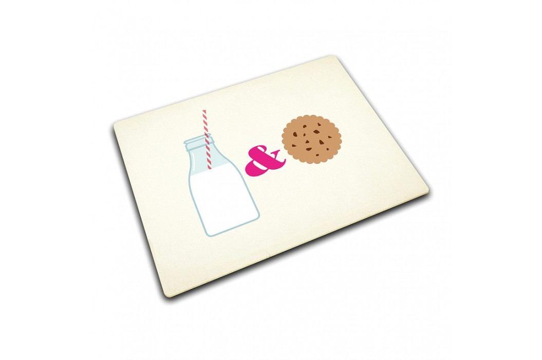 Joseph Joseph Sklenená ochranná podložka Milk & Cookies 40 x 30 cm