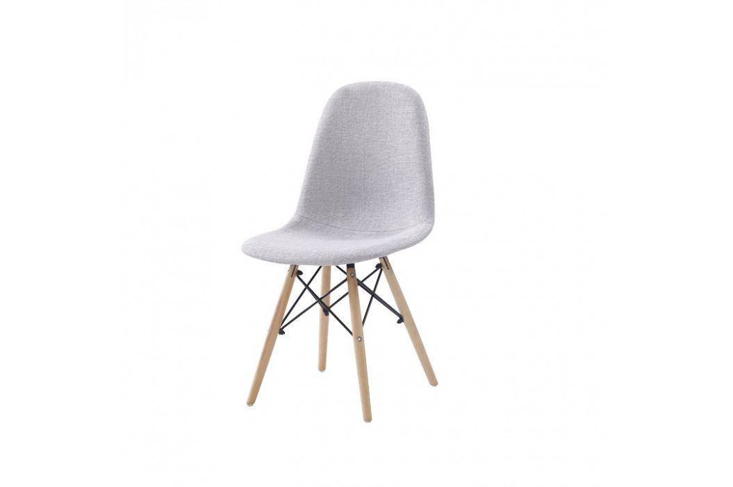 Jedálenská stolička, svetlosivá, DARELA NEW