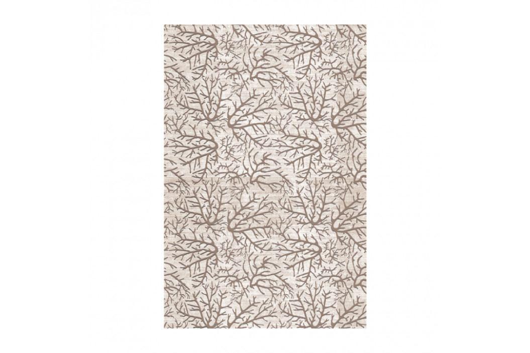 Koberec, béžová/vzor konár, 80x150, ARILA