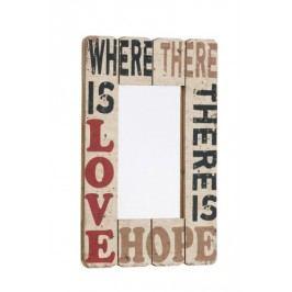 Nástenné zrkadlo WHERE THERE IS LOVE ...