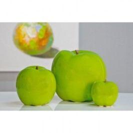 Keramická dekorácia APFEL 18 cm - zelená