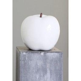 Keramická dekorácia APFEL 26 cm - biela