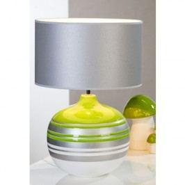 Stolná lampa ORLANDO - biela/zelená/strieborná