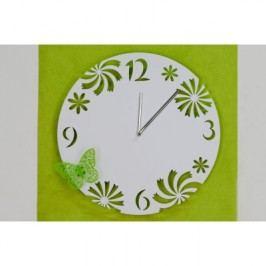 Nástenné hodiny BUTTERFLY - biela
