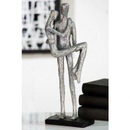 Dekoratívna soška TRUST - strieborná/sivá