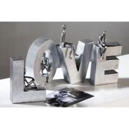 Dekoratívny nápis LOVE - strieborná