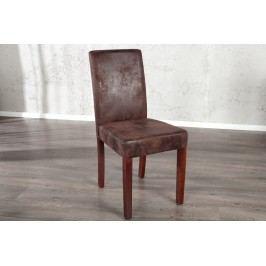 Jedálenská stolička GENUDA Vintage look - kávová