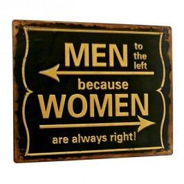 Ceduľa MEN/WOMEN - čierna/žltá