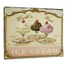 Ceduľa WORLD'S BEST ICE CREAM - béžová