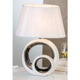 Stolná lampa CIRCLES - biela/strieborná