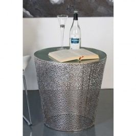 Odkladací stolík PURLEY - antická strieborná