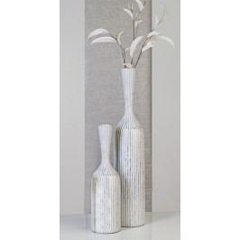 Podlahová váza KORFU S - hnedá, strieborná