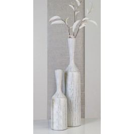 Podlahová váza KORFU L - hnedá, strieborná