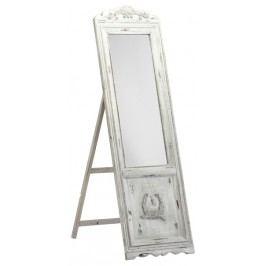 Stojanové zrkadlo CANARIA - antická biela