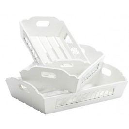 Set 3 ks podnosov JAVIERA - biela