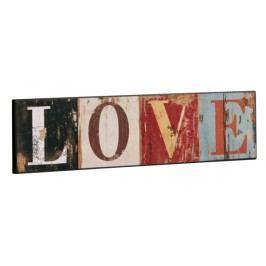 Drevená ceduľa LOVE - viacfarebná