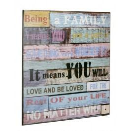 Ceduľa BEING A FAMILY - viacfarebná