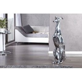 Socha hliníková DOGGY SILVER - strieborná