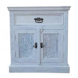 2-dverová komoda HARBOR - biela