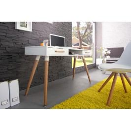 Písací stôl SCANIA MEISTER - biela
