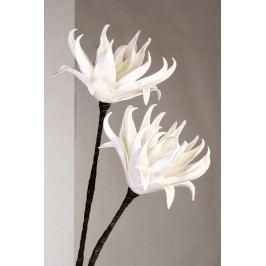 Bighome - Dekoračný kvet INDIA - biela