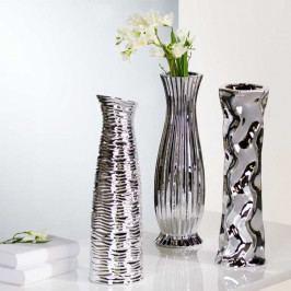 Bighome - Váza DIVERSO 46 cm - strieborná