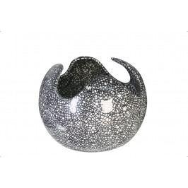 Bighome - Váza WEB L - čierna/biela