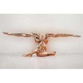 Bighome - Dekorácia ATLET GOLT 65 cm - medená