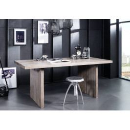 Bighome - ROUND Jedálenský stôl 180x90 cm, dymová, palisander