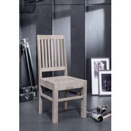 Bighome - ROUND Stolička drevená, dymová, palisander