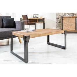 Bighome - Konferenčný stolík INDUSTRIAL 110 cm - čierna hnedá