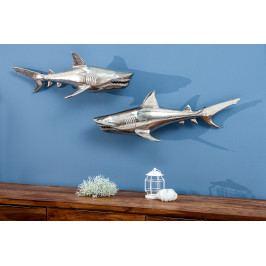Bighome - Dekorácia 2 set SHARK - strieborná