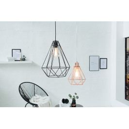 Bighome - Visiaca lampa CRATE L - čierna