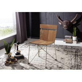 Bighome - PURE NATURE Stolička drevená s plným operadlom, akácia