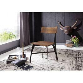Bighome - PURE NATURE Stolička drevená - čierne nohy, akácia