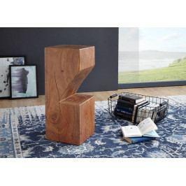 Bighome - PURE NATURE Barový stolík 30x75 cm, akácia