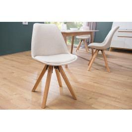 Bighome - Jedálenská stolička SCANIA -  béžová, krémová